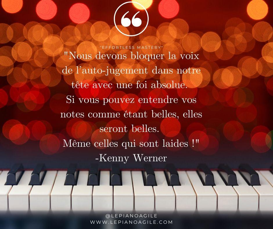 """Bloquer la voix de l'auto-jugement et aimer tout ce que vous jouez au piano, """"Parker"""" ou pas."""